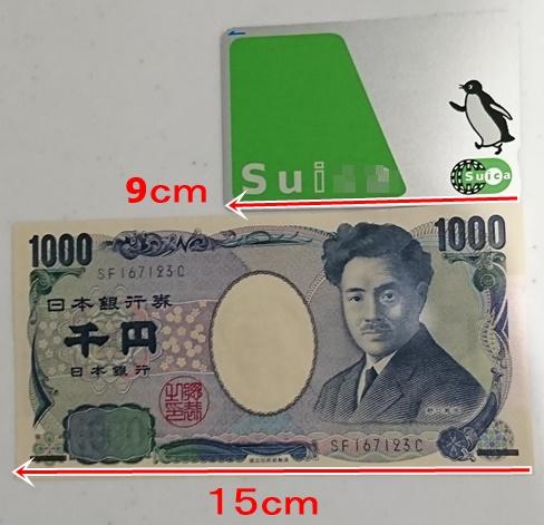 Suicaと千円札